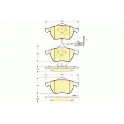 Jeu de Plaquettes de Frein Avant - Audi A3 TT / Seat Leon Toledo / Vw Golf 4 - Bora rbp122
