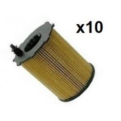 10x Filtres a Huile - Peugeot Citroen 1.6 et 1.4 Hdi CT03.702*10